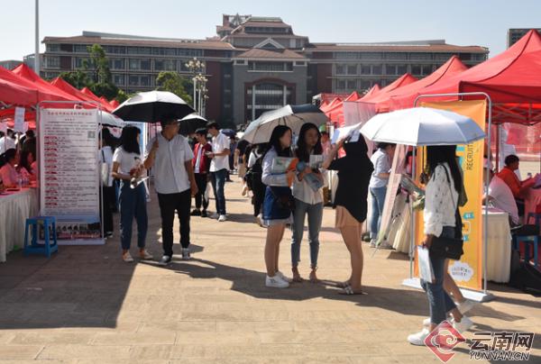 云南民大举行2019年毕业生双选会