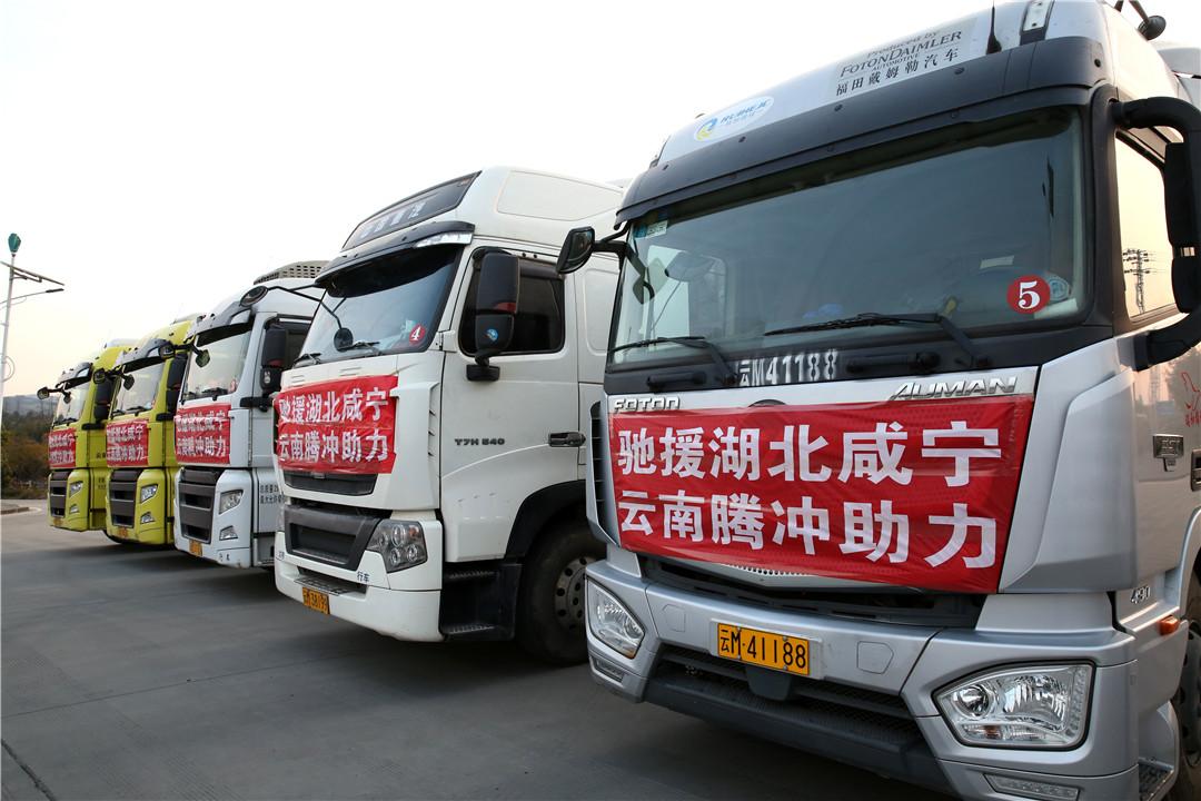 「咸宁不怕!云南来了!」云南腾冲捐赠256吨香蕉驰援湖北咸宁