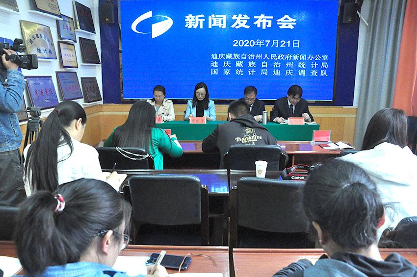 今年上半年迪庆州地区生产总值(GDP)增速高于全国全省平均水平