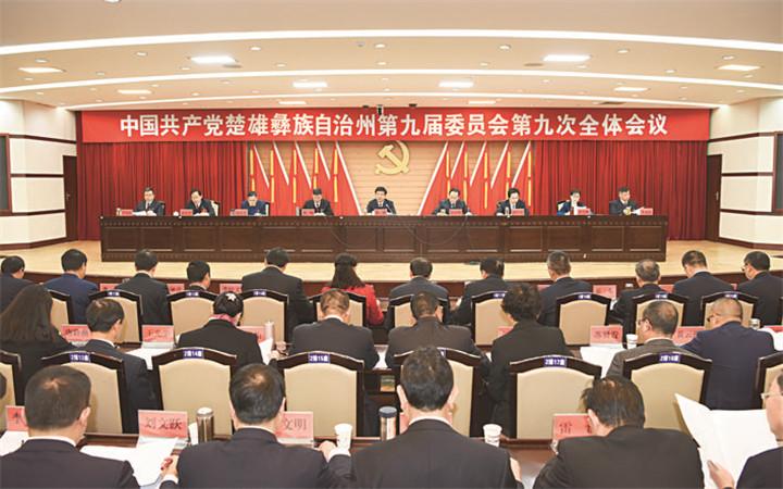 中共楚雄州委九届九次全会在楚举行