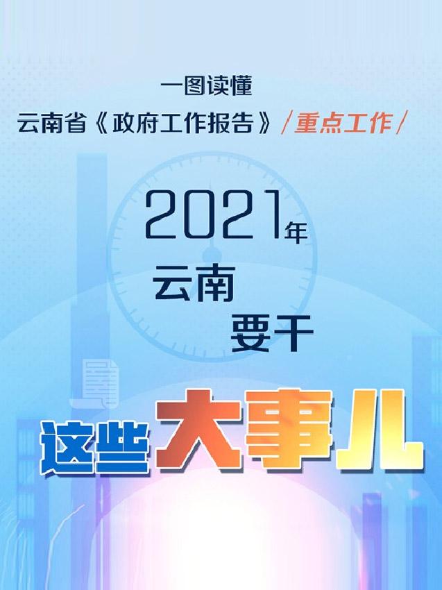 2021年云南要干这些大事儿