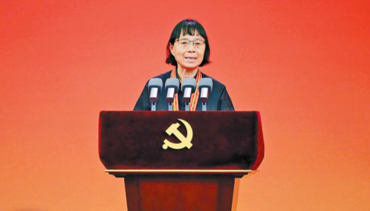 """张桂梅在""""七一勋章""""颁授仪式上的发言"""